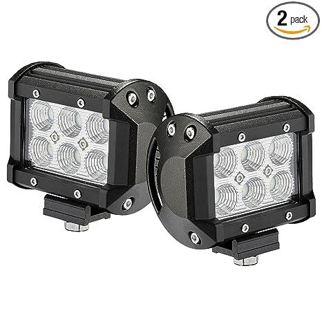 Amazon.com: LED Light Bar 2PCS 18W 4 by Glaretek ...