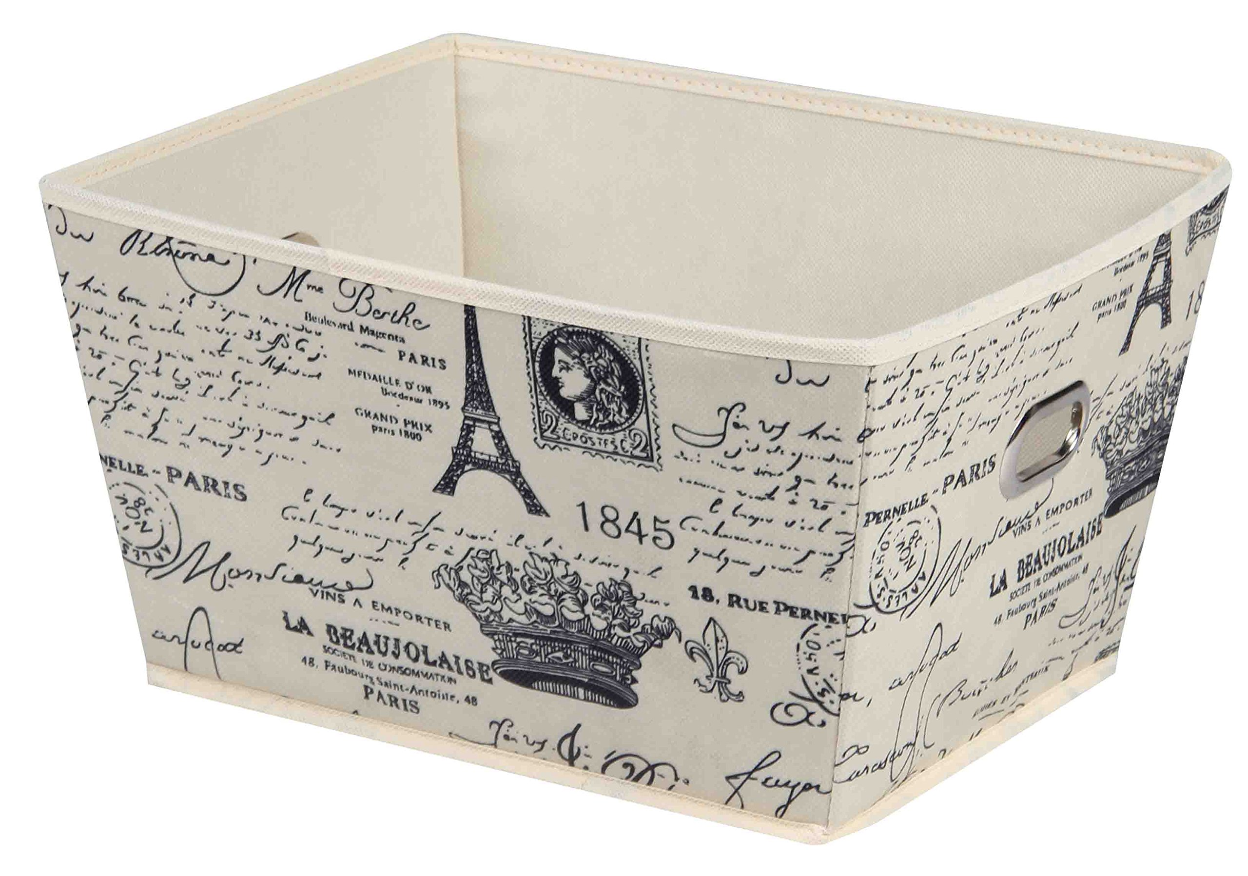 Home Basics Paris Collection Storage and Organization (Large Bin)