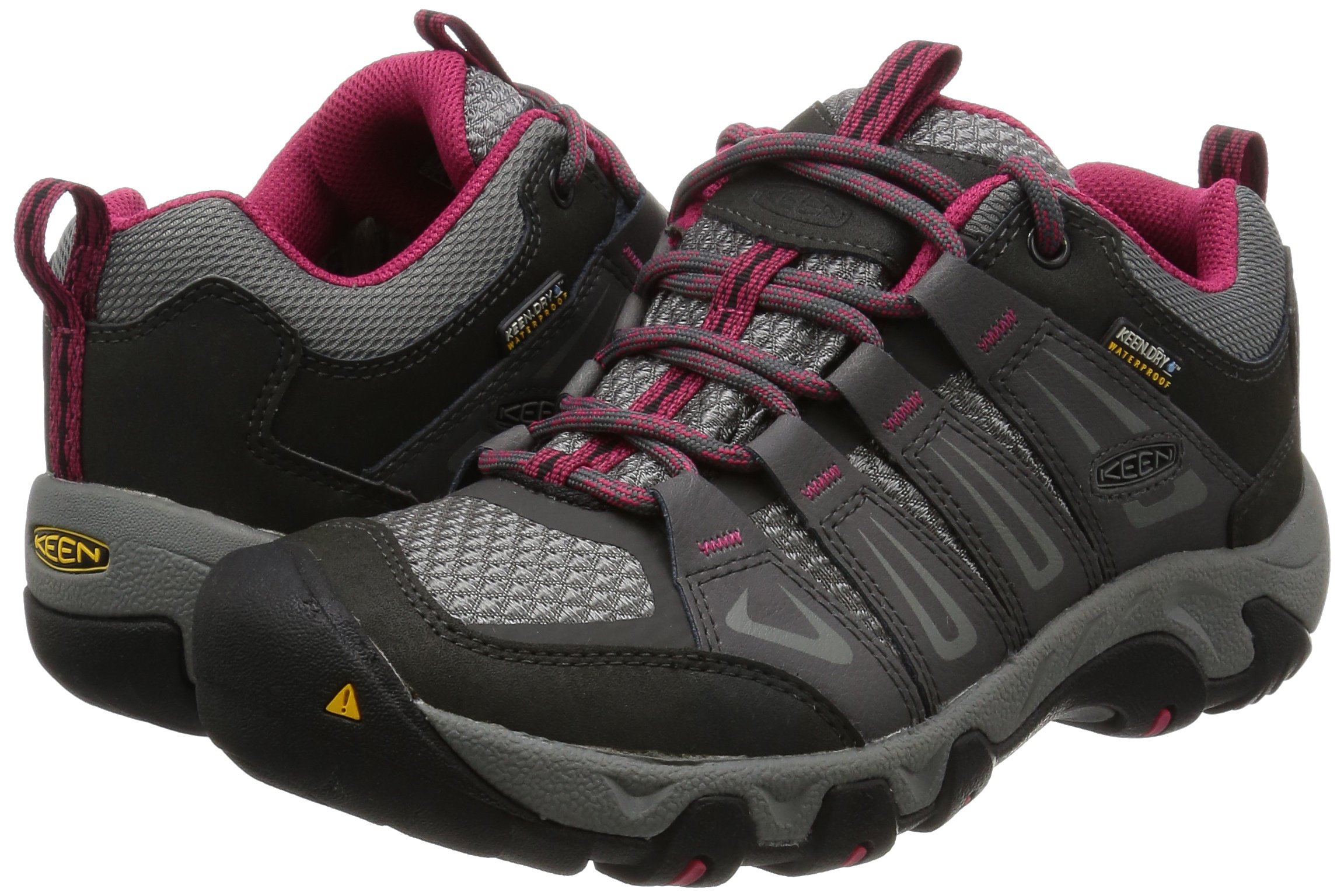KEEN Women's Oakridge Waterproof Shoe, Magnet/Rose, 9 M US by KEEN (Image #6)