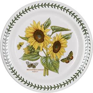 """Portmeirion Botanic Garden 10"""" Dinner Plate - Sunflower (Helianthus Annuus)"""