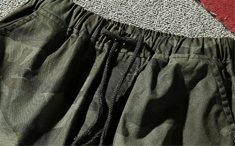 QZH.DUAO Mens Camo Jogger Pants