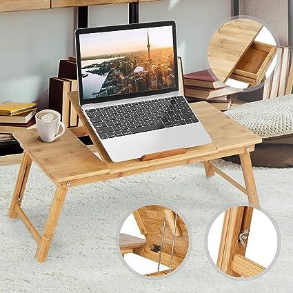 Tavolino Da Letto.Miadomodo Tavolino Da Letto Grande In Bambu Per Portatile