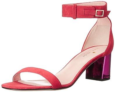 Kate Spade New York Women's Menorca Dress Sandal, Poppy Red/Fuchsia, ...