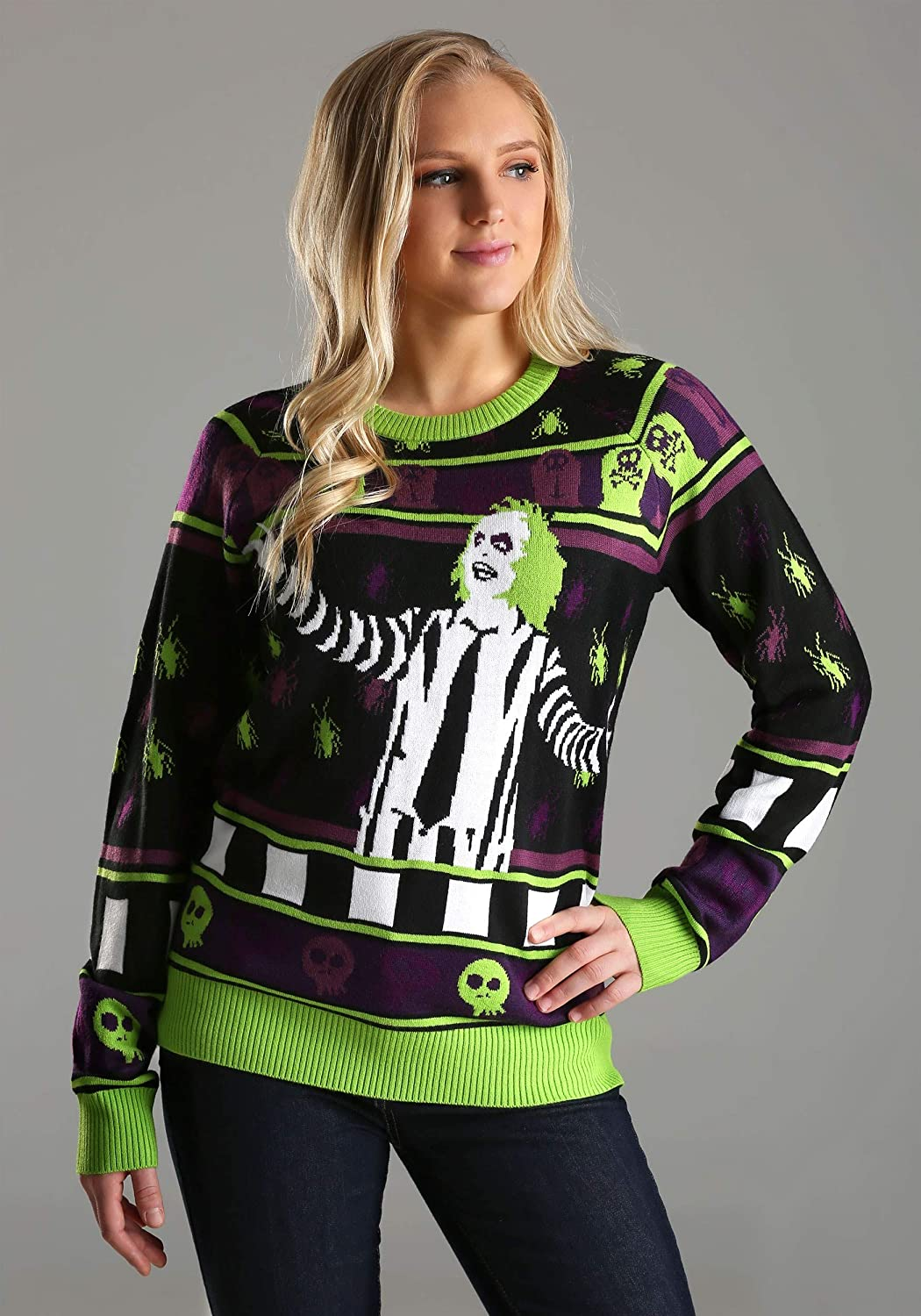 Fun Costumes Beetlejuice It's Showtime! Adult Halloween Sweater