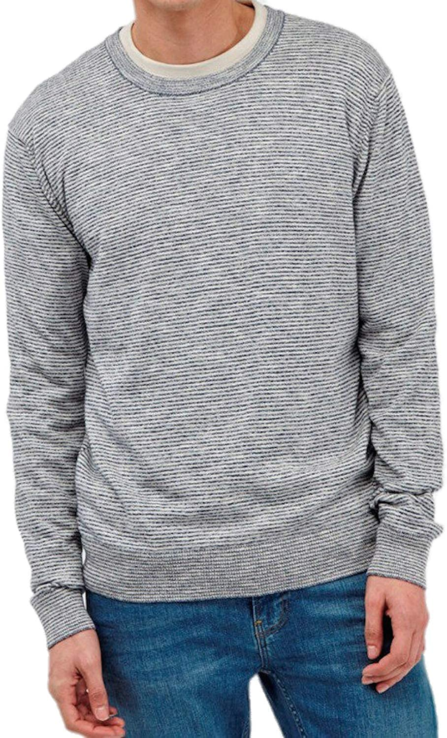 French Connection Mens Slub Knits Crew-Neck Sweater