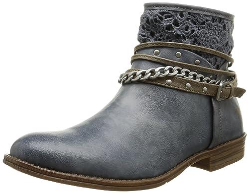 Mustang - 1157-514, Botines Mujer, Azul (875 Sky), 37 EU: Amazon.es: Zapatos y complementos