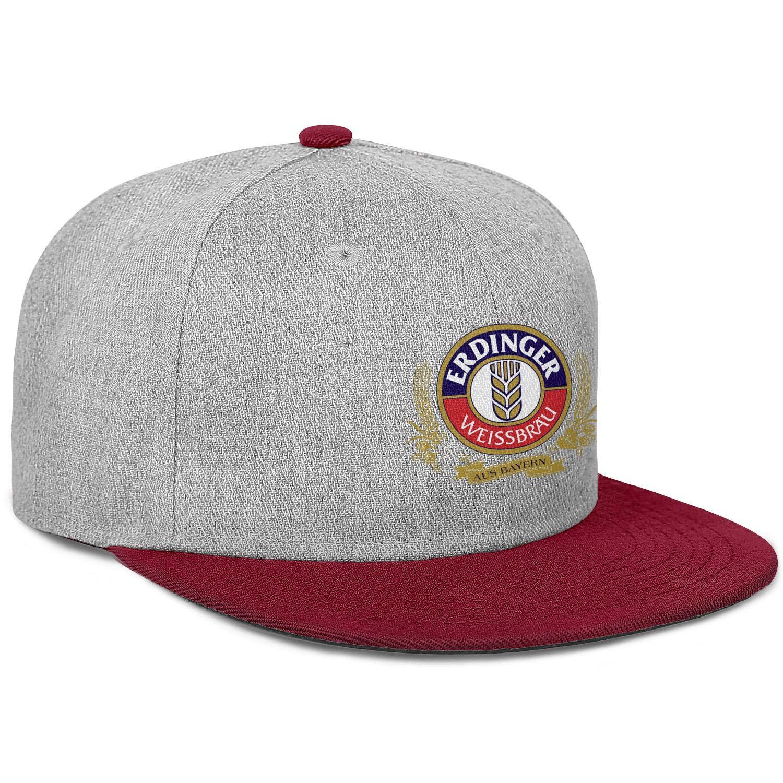 Erdinger Weissbier Dunkel Mens Women Wool Ball Cap Adjustable Snapback Sun Hat