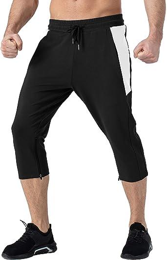 YSENTO Conjunto de ch/ándal para hombre con bolsillos pantalones de gimnasio pantalones de deporte con cremallera completa