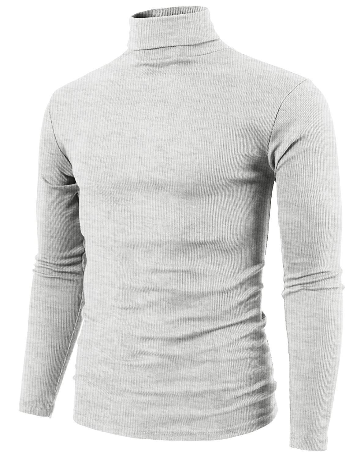 H2h Mens Casual Slim Fit Knitted Thermal Turtleneck Pullover