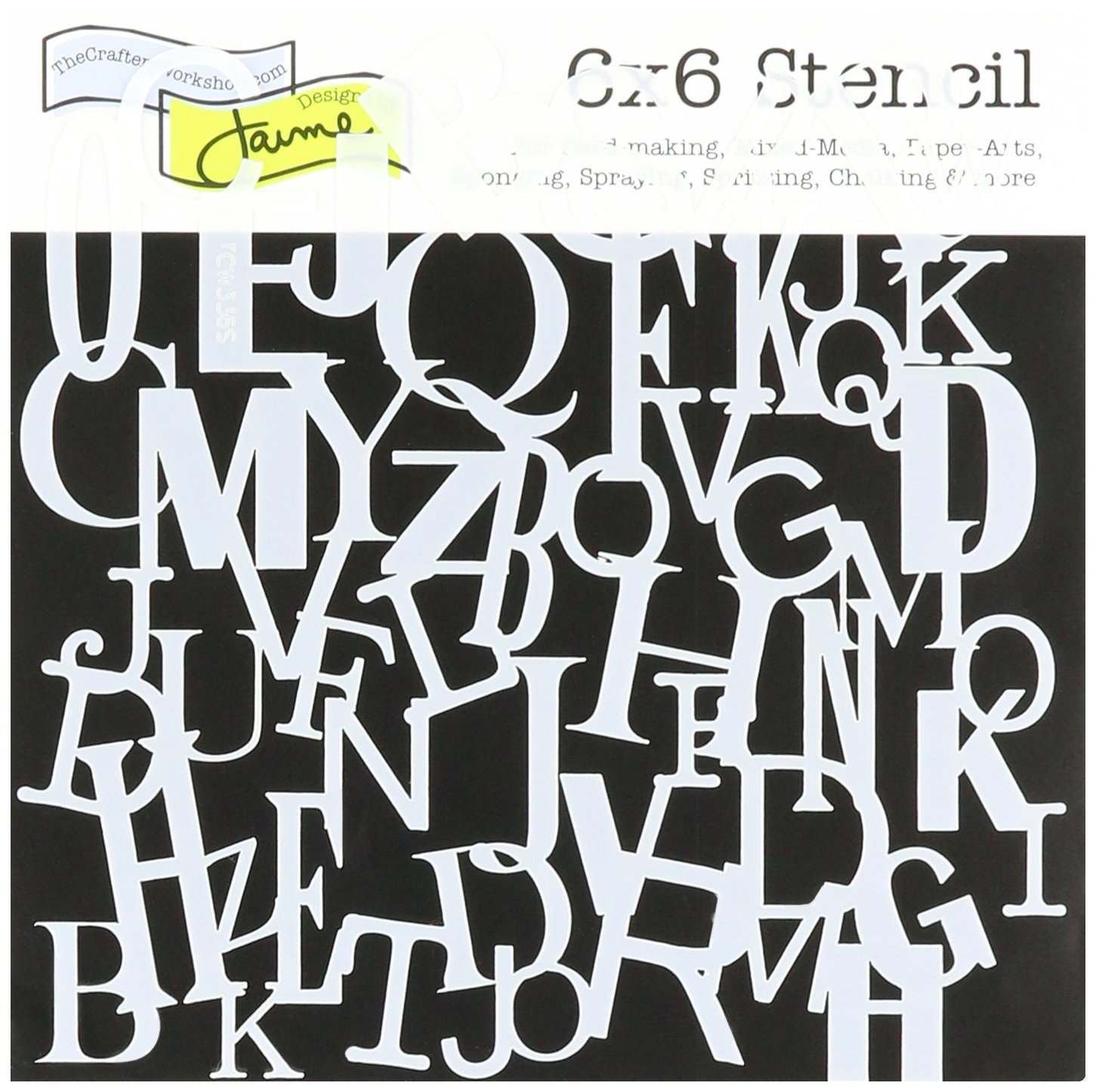 Crafters Workshop 6 x 6 pollici Lettera Collage Template TCW6X6-336