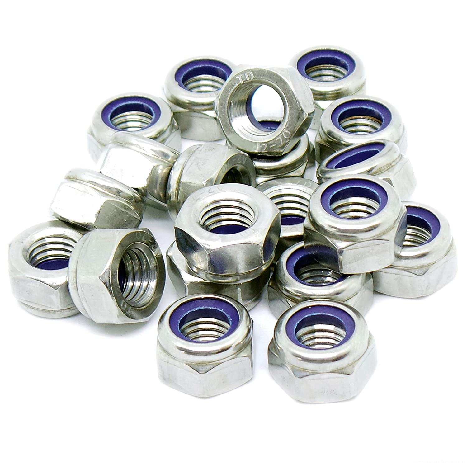 M8 (8mm) Nyloc Hex Nuts - Type-T - Stainless Steel (A2) (Pack of 20) Singularity Supplies Ltd