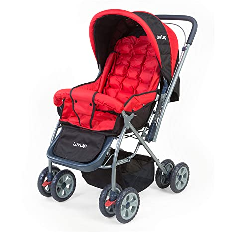 Buy LuvLap Starshine Stroller/Pram, Easy Fold for Newborn Baby/Kids, 0-3  Years (Red) Online at Low Prices in India - Amazon.in