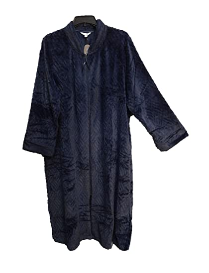 Clothing, Shoes & Accessories Humorous Pink Texture Micro Fleece Zip-front Nightgown Robe W/pockets~3x~22w-24w~2x~~