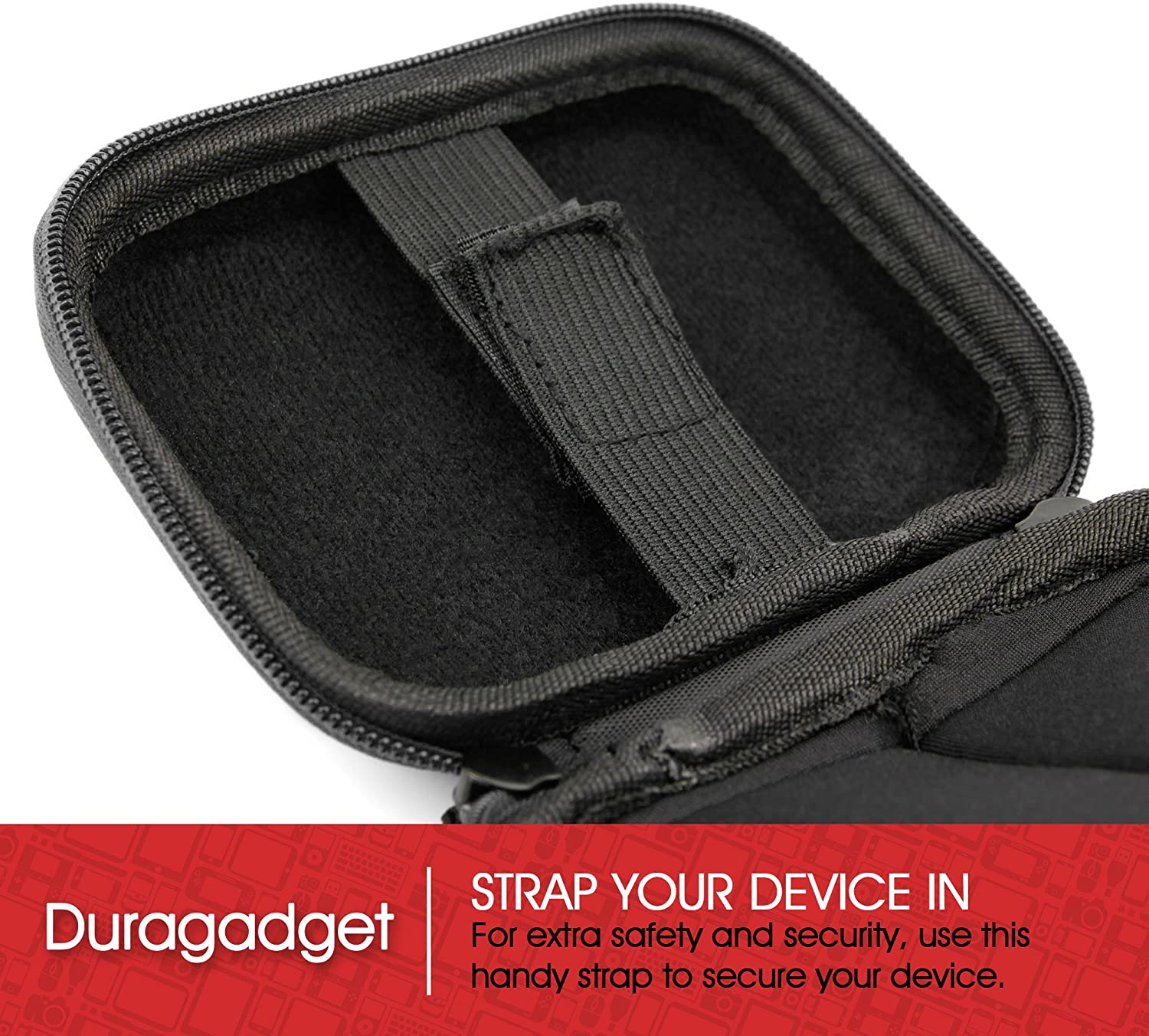 Compatible with Sony Bloggie and Sony TX5 DURAGADGET Hard Camcorder Carry Case in Black