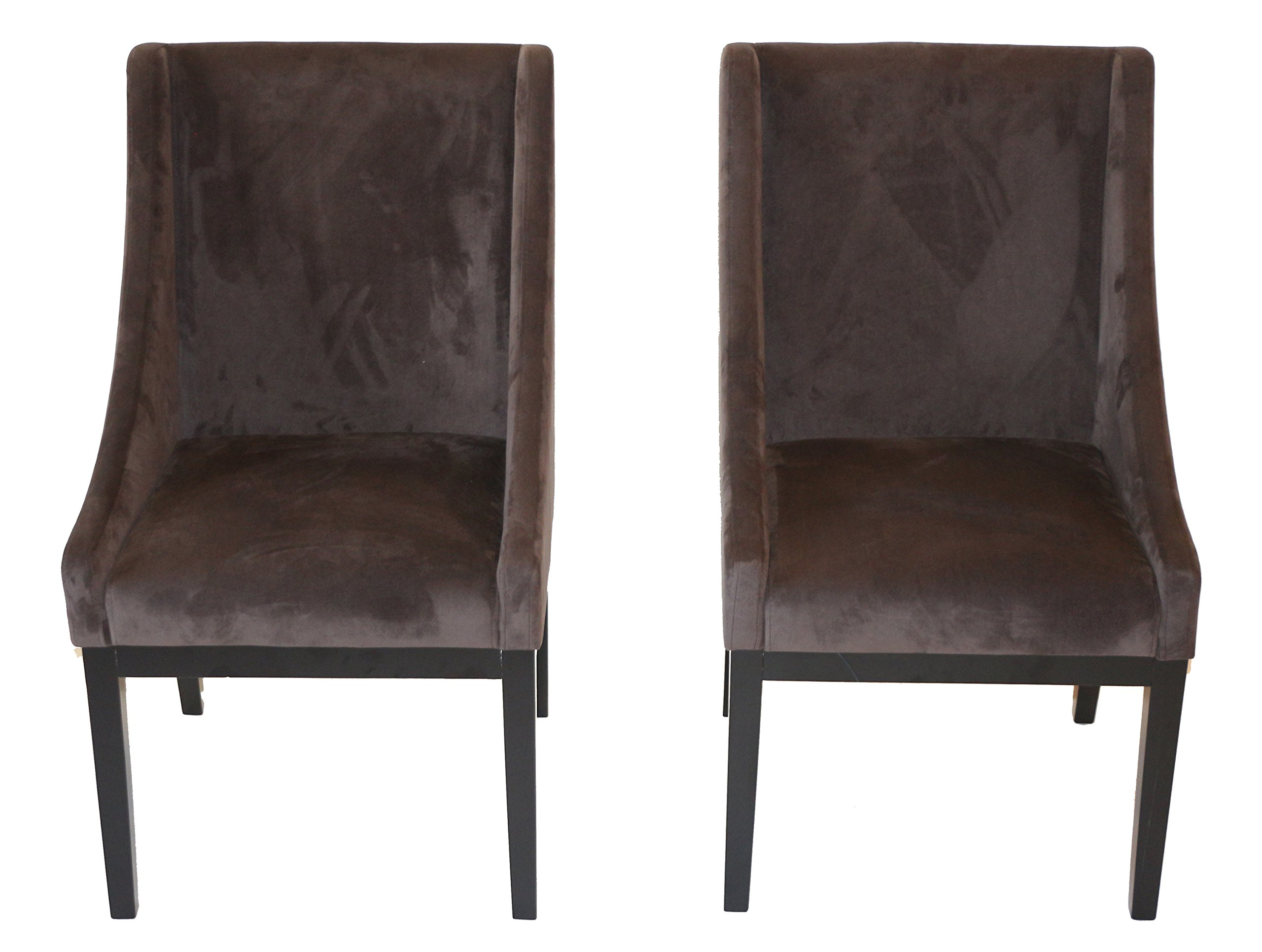Home Life Contemporary Microfiber Modern Sofa Arm Chairs Set of 2