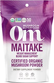 product image for Om Organic Mushroom Superfood Powder, Maitake, Weight Loss & Blood Sugar Support Supplement 3.5 Ounce (Pack of 1)
