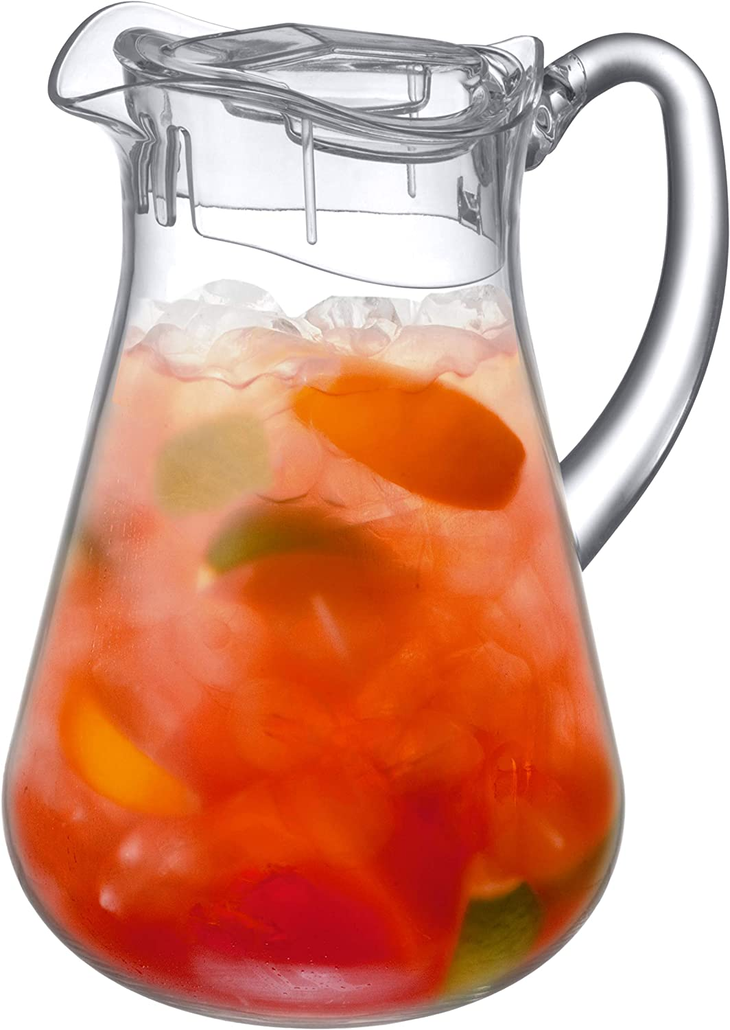 Amazing Abby Droply - Acrylic Pitcher (72 oz, 2.2 qt), BPA-Free and Shatter-Proof, Great for Iced Tea, Sangria, Lemonade, and More