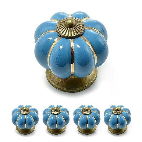 Ganzoo - Tiradores para muebles con corona de porcelana, con ...