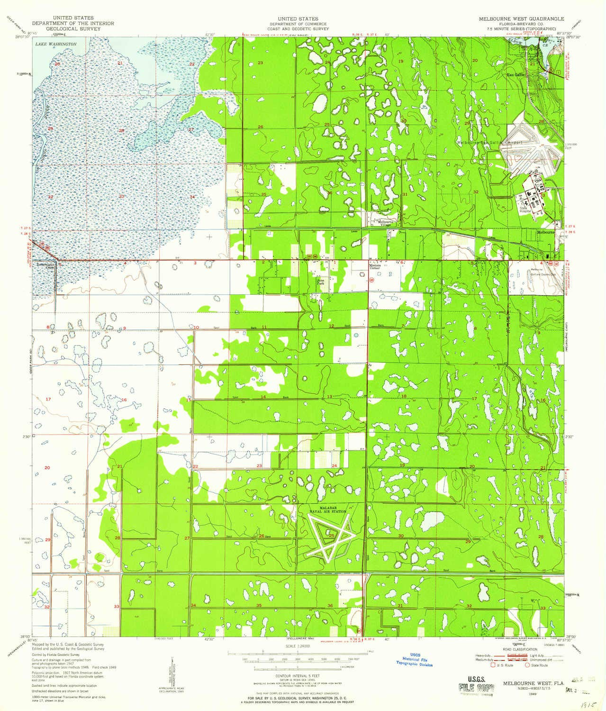 Map Of Florida Melbourne.Amazon Com Yellowmaps Melbourne West Fl Topo Map 1 24000 Scale