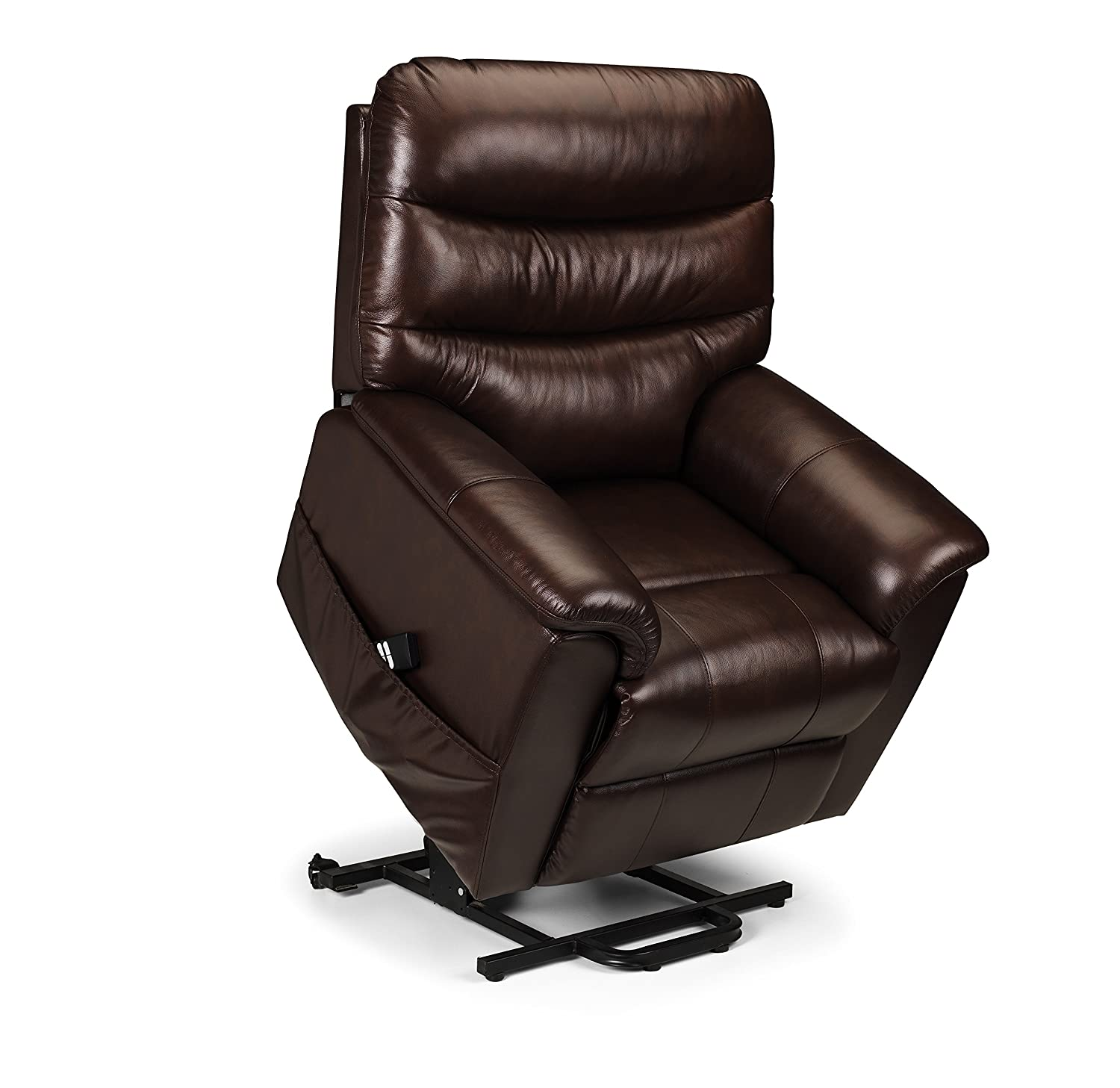 Julian Bowen Pullman Leather Dual Motor Rise and Recline Chair Chestnut Brown Amazon.co.uk Kitchen u0026 Home  sc 1 st  Amazon UK : riser recliner chairs second hand - islam-shia.org