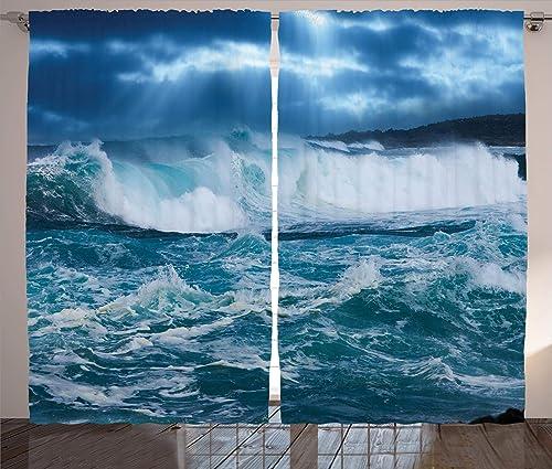 Ambesonne Ocean Curtains