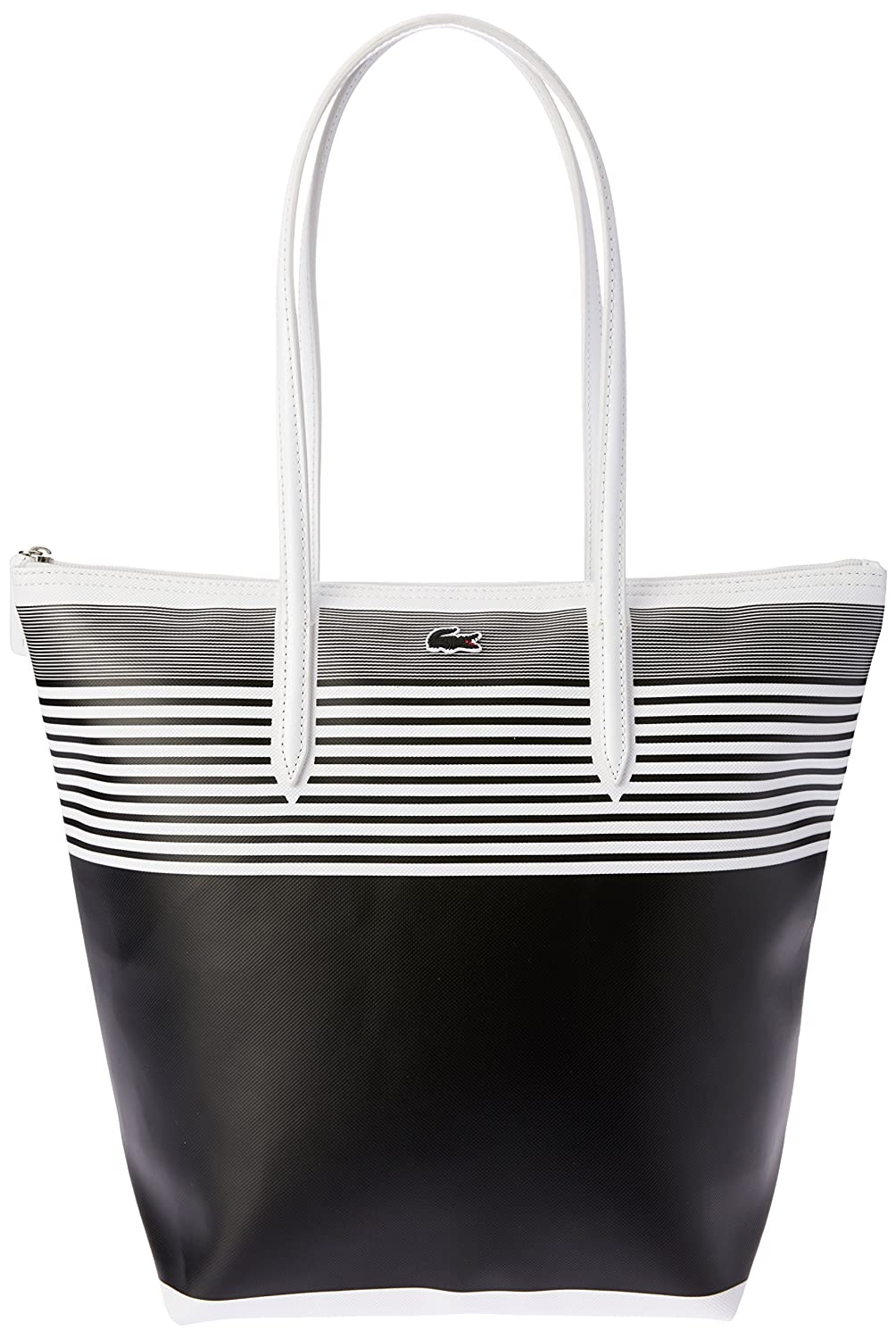 fe8f37223ef Lacoste Women's Stripe Animation Vert Tote, White Black Stripe, One Size  (Standard): Amazon.com.au: Fashion