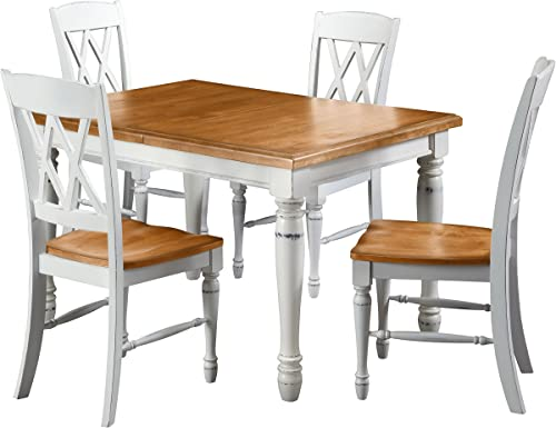 Monarch White Oak 5Piece Dining Set by Home Styles