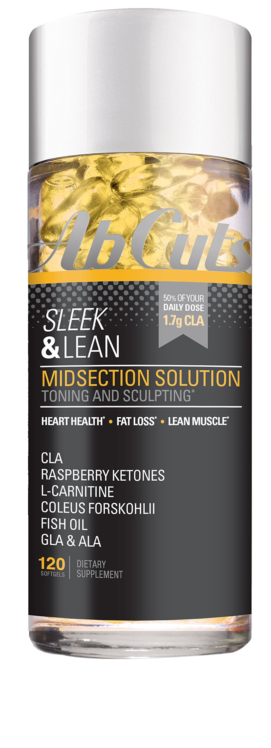 Ab Cuts Sleek & Lean Midsection Solution, 120 Softgels by AbCuts