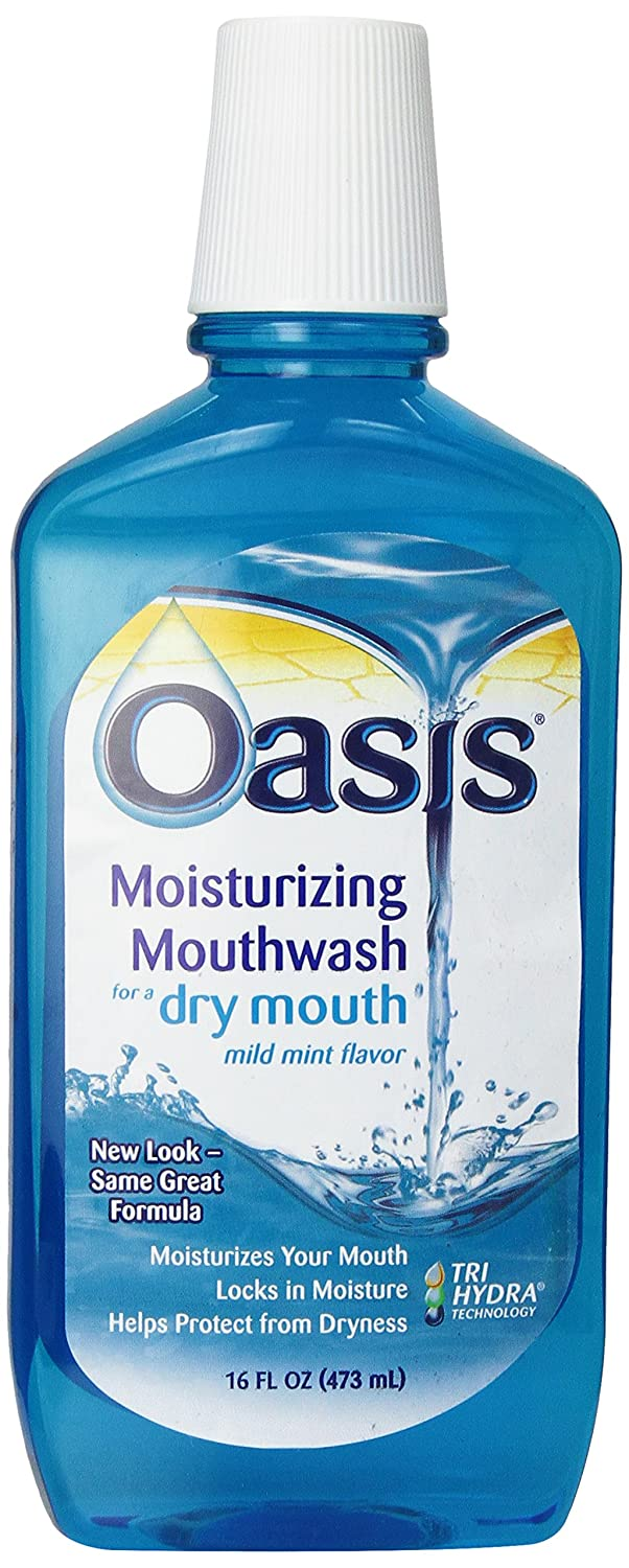 Oasis Moisturizing Mouthwash, For A Dry Mouth, Mild Mint, 16 Fl oz (473 ml) 11700