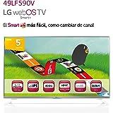 """LG 49LF590V - Televisor FHD de 49"""" con Smart TV (1080x1920, 400 Hz), plateado"""