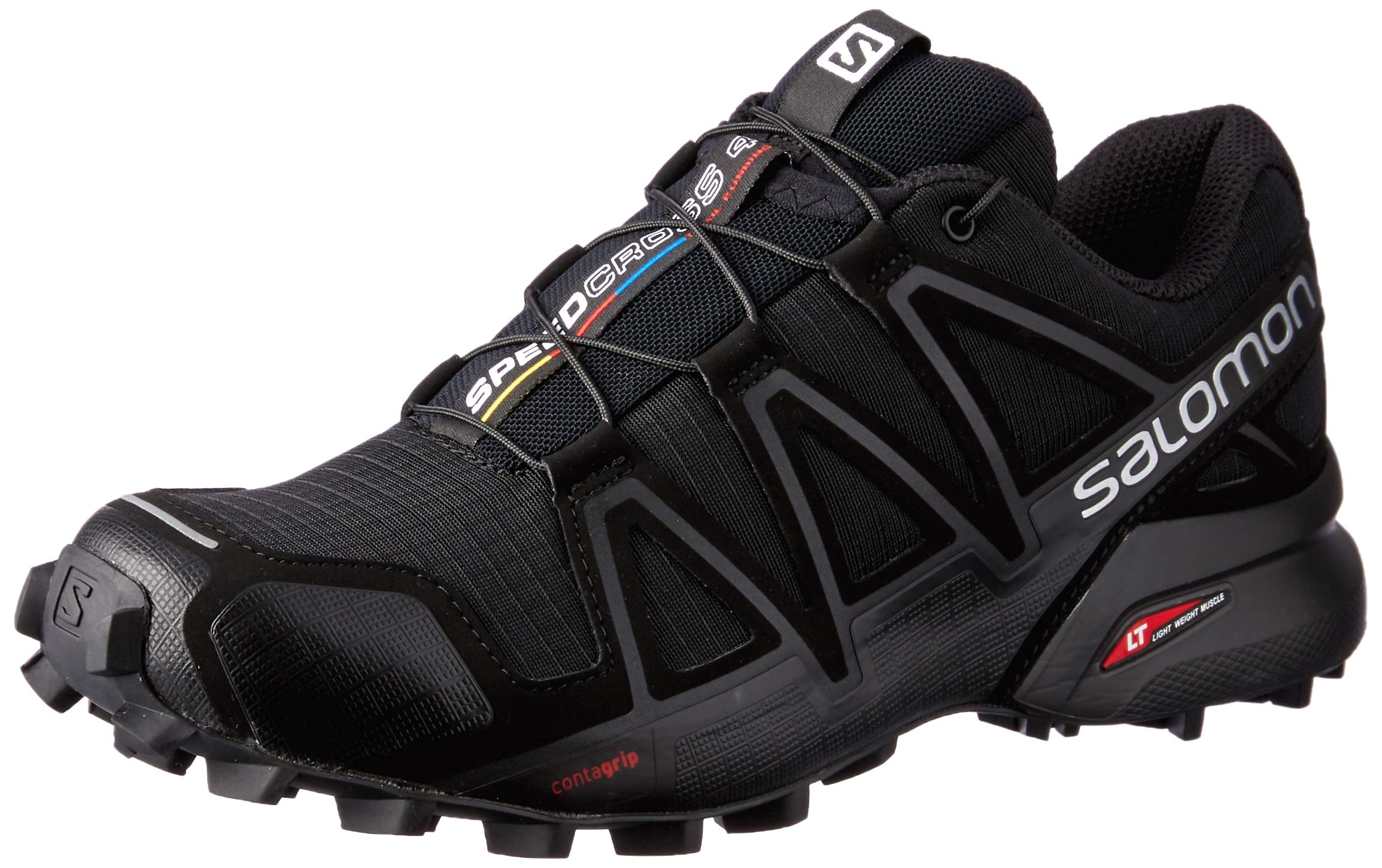 SALOMON Women's Speedcross 4 W Trail Runner, Black Metallic, 7.5 M US by SALOMON