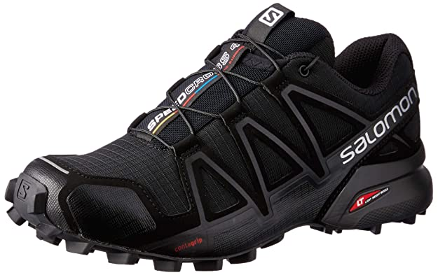 Salomon Women's Speedcross 4 W Trail Runner, Black Metallic, 8 M US best women's hiking shoes