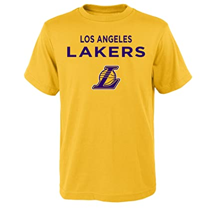 Outerstuff NBA Los Angeles Lakers Boys Lebron James Name and Number Short  Sleeve Tee 678d55b44