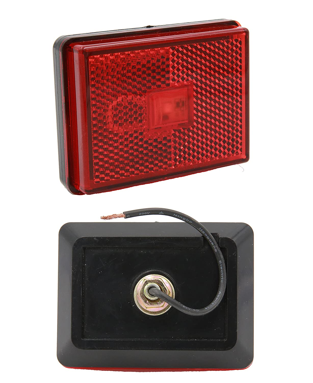 "Van Taillight Brake Stop Lamp 12V Truck PTL0271 4pcs 2X3 /""PEAKTOW Rectangular Red LED Submersible Clearance Marker Lights with Reflex RV Trailer Light for Car Boat Front Side Rear Marker Indicators"