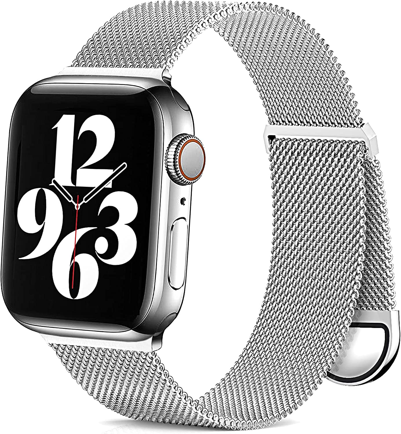 ZALAVER Metal Band Compatible with Apple Watch Bands 38mm 40mm 42mm 44mm, Adjustable Magnetic Stainless Steel Mesh Replacement Strap Compatible with iWatch Series 6 5 4 3 2 1 SE Women Men 38mm/40mm