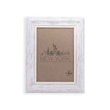 4x6 Picture Frame White/Gold - Mount/Desktop Display, Frames by EcoHome