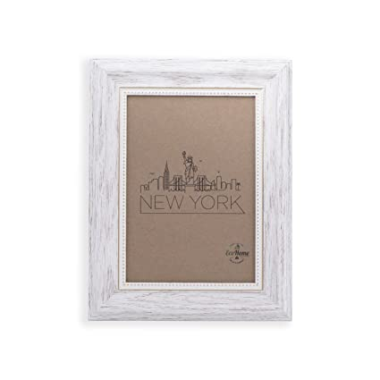 Amazon.com - 4x6 Picture Frame White/Gold - Mount/Desktop Display ...