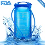 Hydration Bladder Water Reservoir Pack for 2 liter 2L Hydration pack System - BPA-Free,Odorless, Leakproof ,Wide Opening Easy Cleaning and Filling Water Bladder.