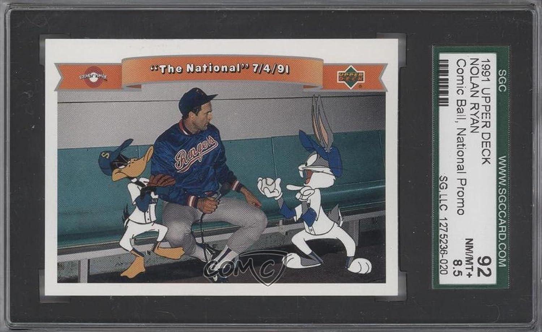 Nolan Ryan Sgc Graded 92 Baseball Card 1991 Upper Deck Comic Ball