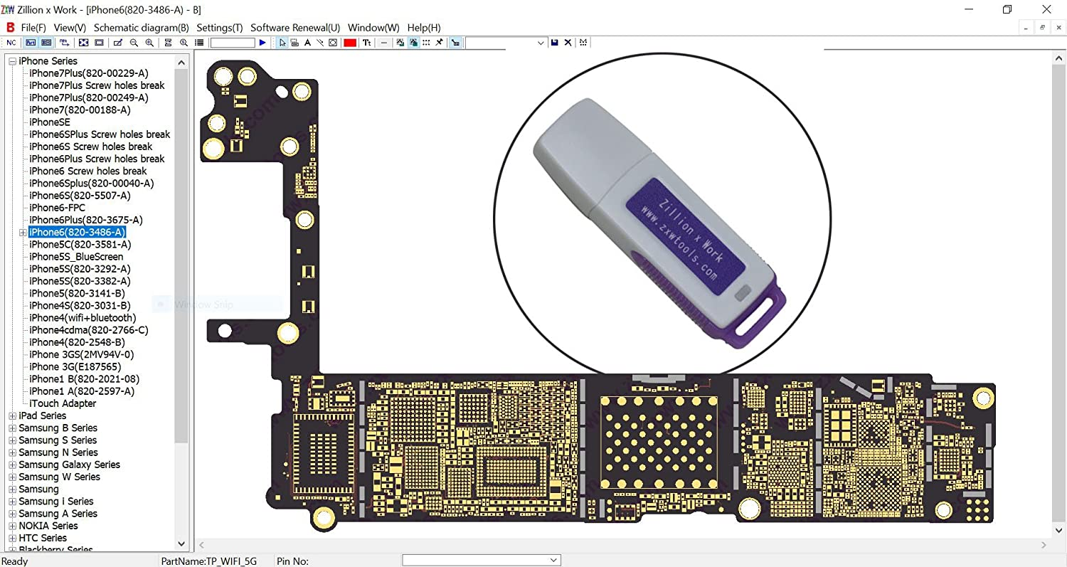Zxw Dongle Usb Tool Pcb Layout Schematic Pad Drawing Samsung Tv Circuit Board Diagram For Latest Iphone Ipad Android Htc Cellphones Troubleshooting Micro