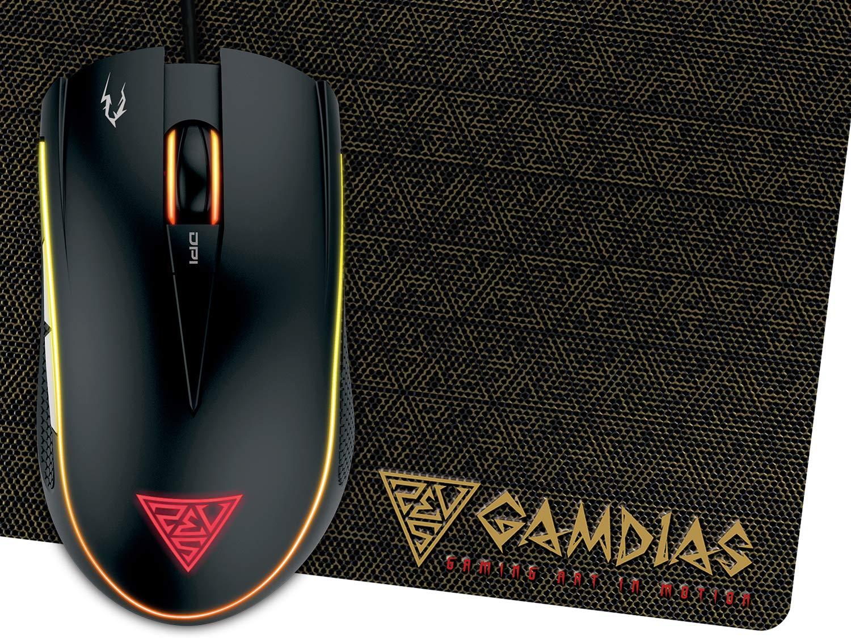 Gamdias Zeus E2, 3200DPI Optical Sensor and Double-Layer Fabrics Mouse mat