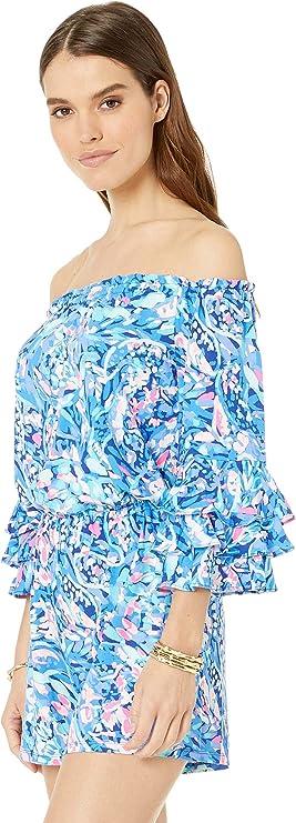 d10e65a6f823 Amazon.com  Lilly Pulitzer Women s Calla Romper  Clothing