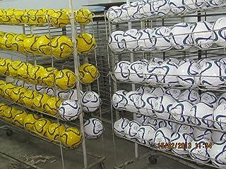 10x Ballon de futsal en cuir PU blanc taille 3
