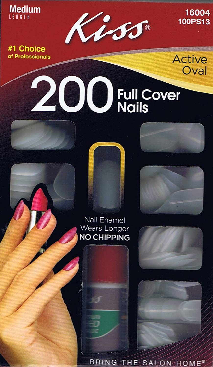Amazon.com: Kiss Full Cover Nails Kit, Active Oval - 200 Count: Beauty
