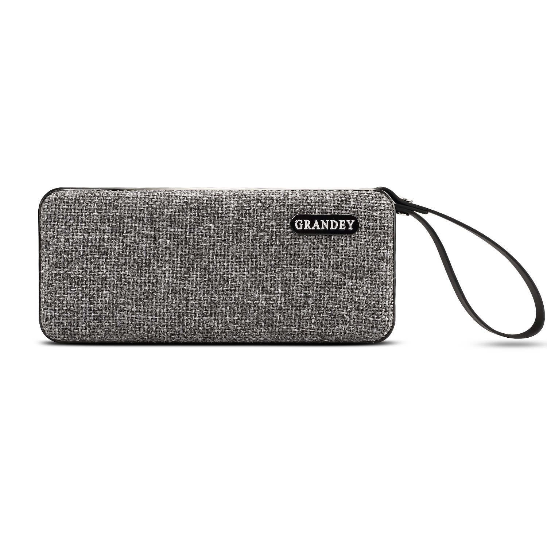 Rectangle Portable Bluetooth Speakers, GRANDEY 10W IPX7 Waterproof Wireless Speaker with Loud Stereo Sound Enhanced Bass Built-in Dual Driver Speakerphone, Mic, Handsfree Calling, Shockproof