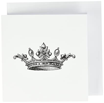 Amazon majestic crown drawing king queen princess greeting majestic crown drawing king queen princess greeting cards 6 x 6 inches m4hsunfo