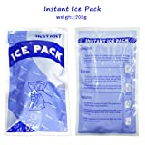 Instant Ice Cold Pack for for Sport Injury First Aid-Pack of 48,(11*15 cm,100g)