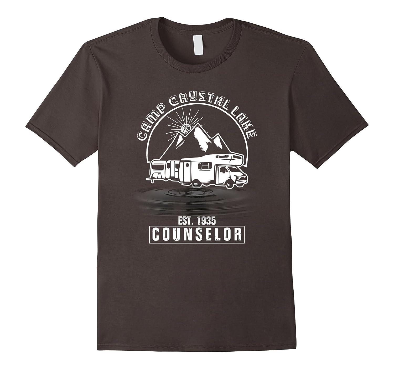 Camp Camping Crystal Lake Counselor Retro T shirt-T-Shirt