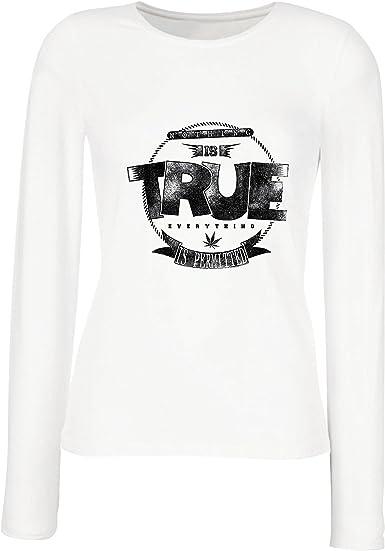 Camisetas de Manga Larga para Mujer Nada es Cierto, Todo está ...