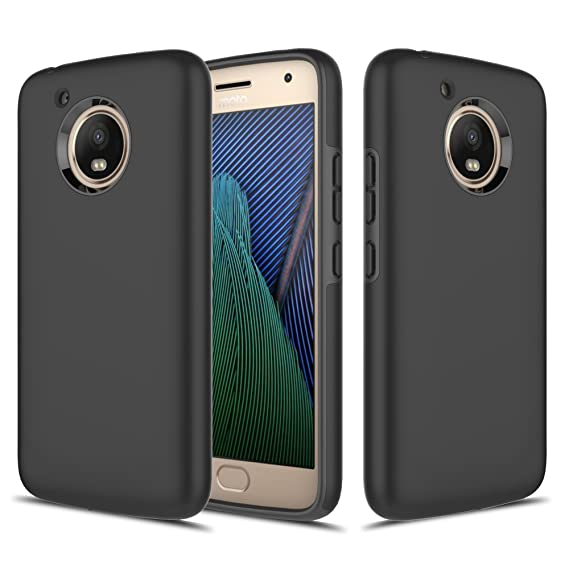 buy popular 58933 b2879 Moto G5 Plus Case, TownShop Hard Rubber Impact Dual Layer Shockproof  Silicone Bumper Case for Motorola Moto G5 Plus (2017) / Moto G Plus (5th ...